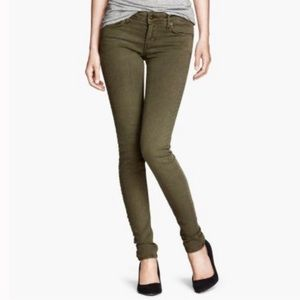 H&M Olive Green Skinny Jeans